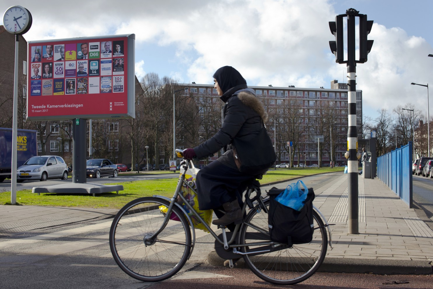 Headscarfs are almost as common as bicycles in Amsterdam. Image: Peter Dejong/Associated Press